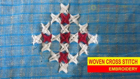 WOVEN CROSS STITCH EMBROIDERY